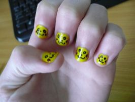 Pikachu Finger Nails by Gomamon4life