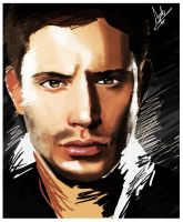 Dean Winchester Painting by superfizz