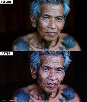 Photo Retouch - Iban Man by rexolution