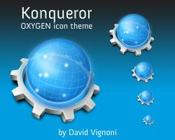 Konqueror web browser icon by davigno