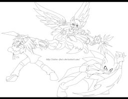 lineart team by Extra-Fenix