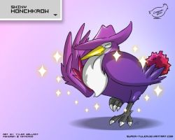 SHINY Honchkrow by super-tuler