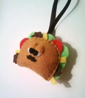 Tony the Taco Felt Ornament by msmegas