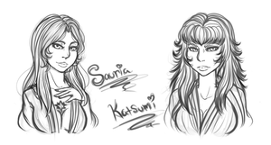 Sauria and Katsumi - Bust Commissions by Mama-Moose