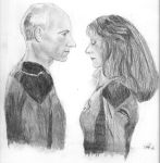 Picard and Crusher by camir