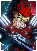 Commish - Wrex by JoeHoganArt