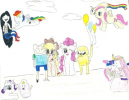 Adventure Time and My Little Pony Crossover by chochang55