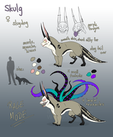 Reference Sheet: Skulg by bestiaexmachina