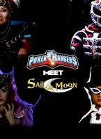 Power Rangers meet Sailor Moon poster by SteveIrwinFan96
