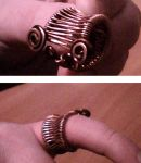 Wire Weave Ring by Valdemaras