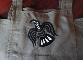 Viking apron: Raven Embroidery by Zadumana