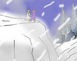At the Abandoned Abbey(snowy) by Cyclone786
