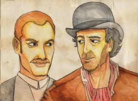 Watson and Holmes by Paups