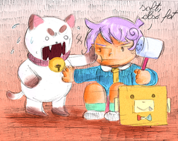puppycat and cardamon by X3carlyX3