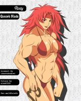 Manga Muscle Girl Risty by elee0228