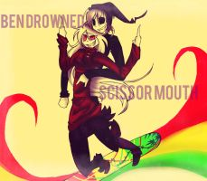 Scissor Mouth And Ben Drowned. by DJambersky666