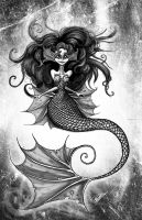 Mermaid Art by BunnyBennett