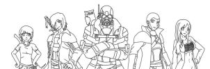 FNV: OC Courier group WIP by Fantasy34