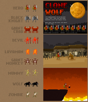 Clone Wolf game graphics by jarnik84