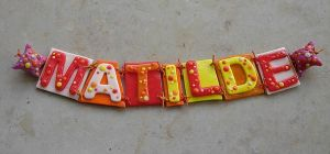 Name in Fimo by Sompy-Stuff