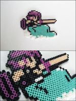 Crystalis hero on dolphin bead sprite by 8bitcraft