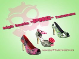 High heels - Tacones PNG pack by MARIFRIKI
