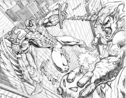 Spider-Man vs Goblin by alfred183