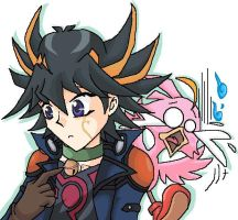 Yusei and Roadrunner by PhuiJL
