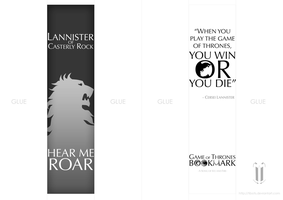Game of Thrones - bookmark 2 by tibots