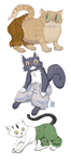 Cats by Inprismed