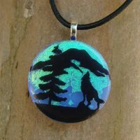 Nature's Howl Fused Glass by FusedElegance