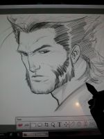 logan sketch on wacom cintiq by Sajad126