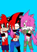 OLD: Three smiling friends by MessedUpEssy
