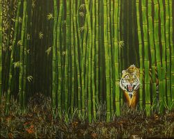 Tiger on the Stalk by Withoutum