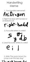 Handwriting Meme by AniDragon