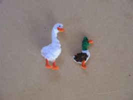 Duck and a Goose by fuzzyfigureguy