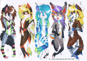 Color adoptablesss 26 by CandyGirl55