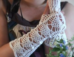 Lace Fingerless Gloves by jezzabell13