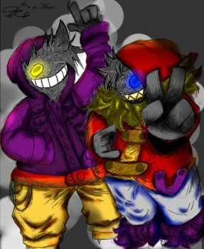 Underfail Fan Characters. color by TheMiuni by Rodlfato