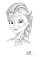 Queen Elsa - sketch by gamespeaker13