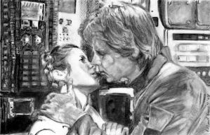 Han Solo and the Princess by RichardBurgess