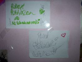 Robert Pattinson and Jared Padalecki autographs by BlackLuna2505