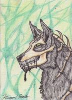 ACEO - Stitchy-face by Kigai-Holt
