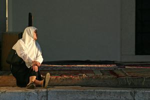 Muslim Woman at the Mosque by 3-De