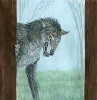 Wolf at the Door by Hareguizer