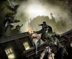 Rooftop Rumble by graver13