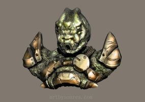 Alien Soldier Sculpt by Bamboo-Learning
