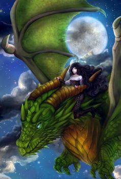 She and her Dragon by Noxiale