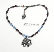 Double Dragon Necklace by PurlyZig