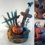 Halloween handmade miniature diorama by JeffStahl